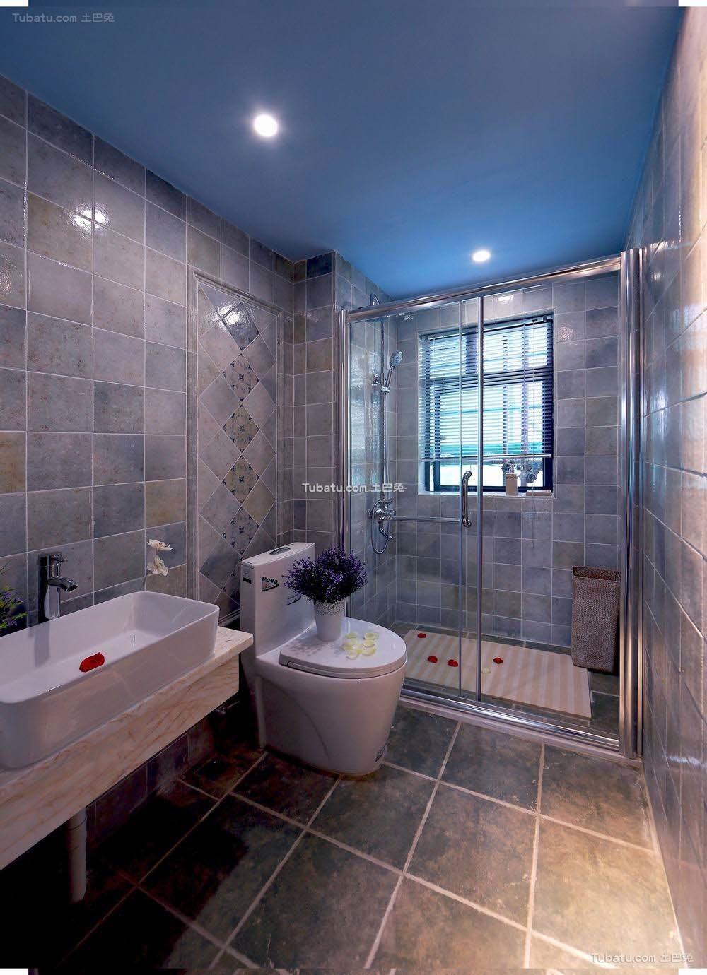 地中海风格室内卫生间装修设计效果图