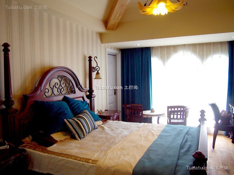 美式小户型设计卧室家装效果图