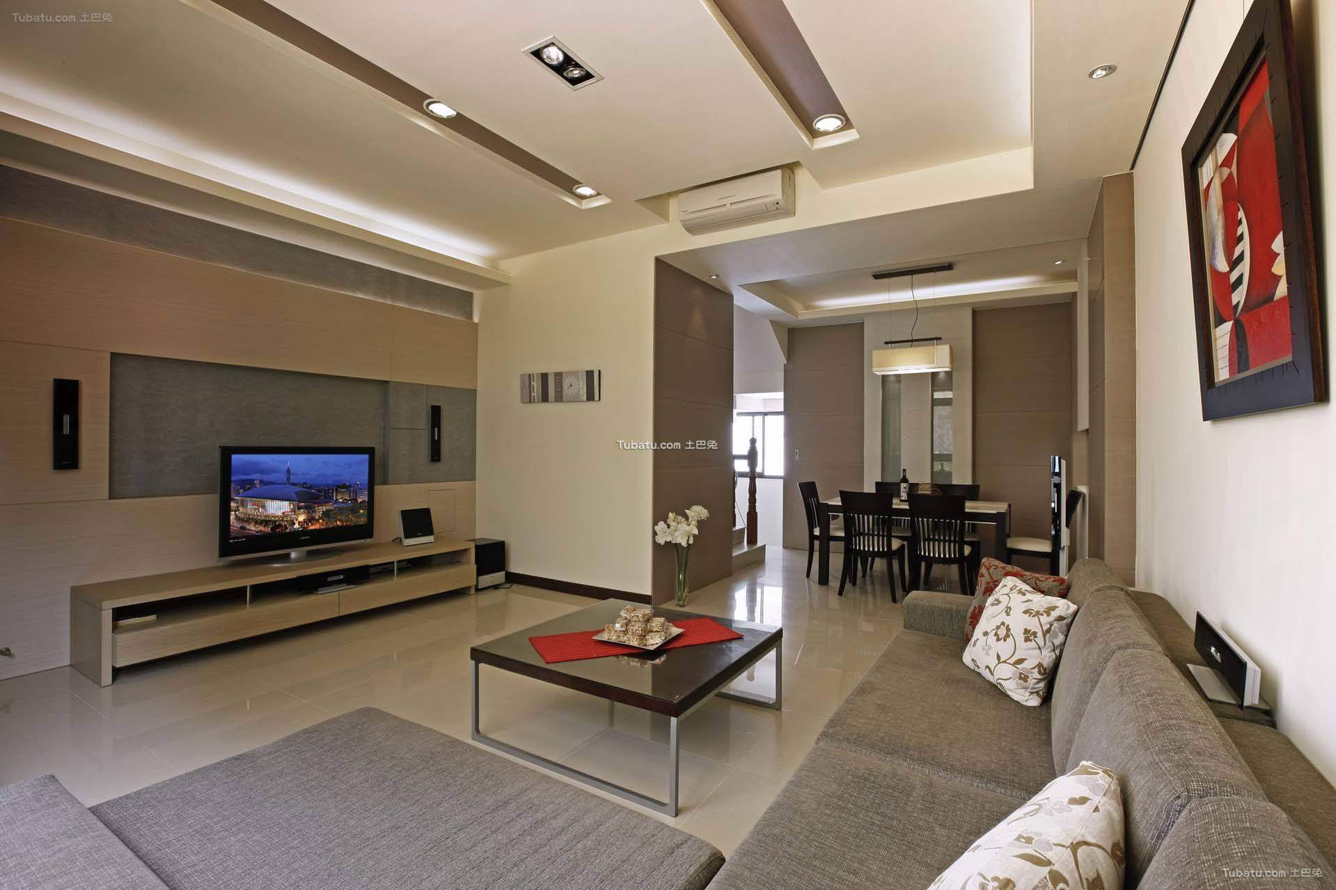 简约现代家装风格二居室设计