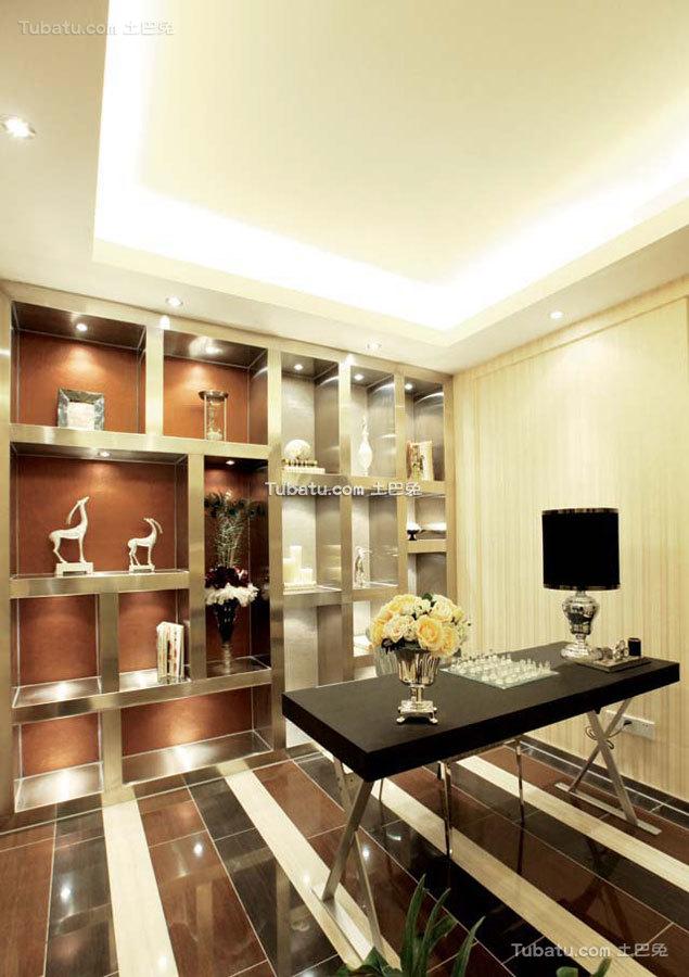 新中式时尚家庭书房设计