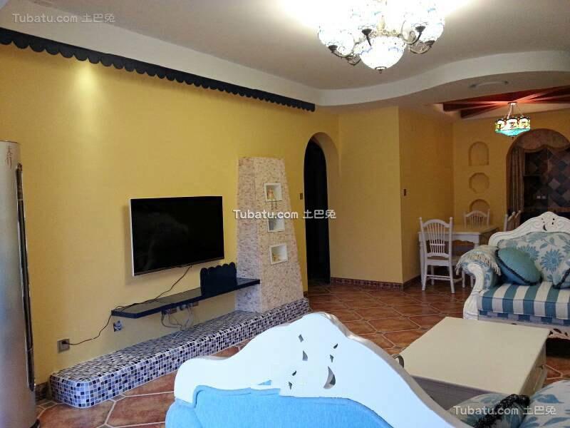 地中海风格设计两居室效果图片