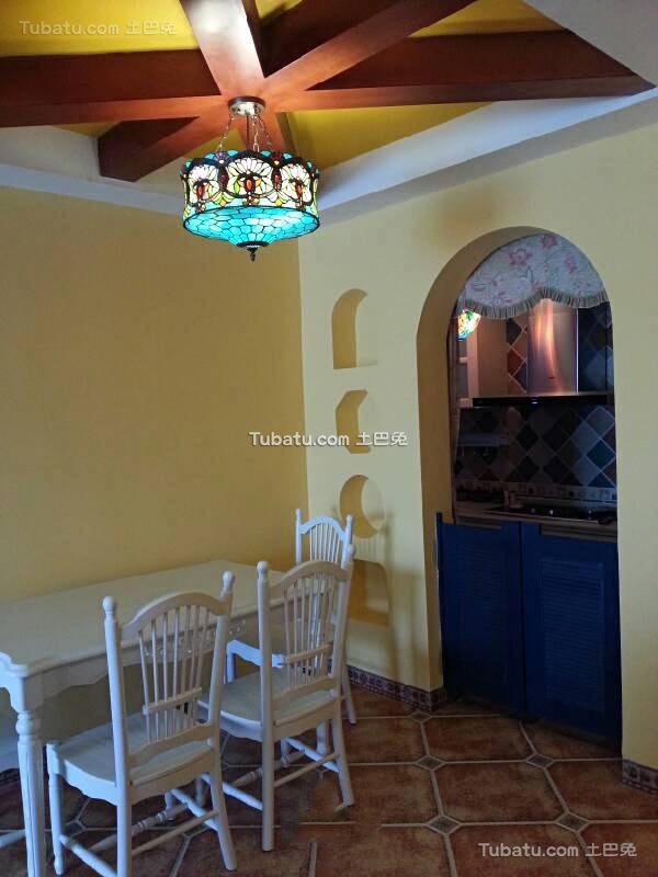 地中海风格设计室内餐厅效果图片