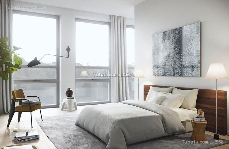 简欧豪华复式室内卧室设计效果图