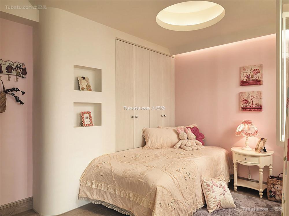 简欧复式家居卧室装饰效果图片