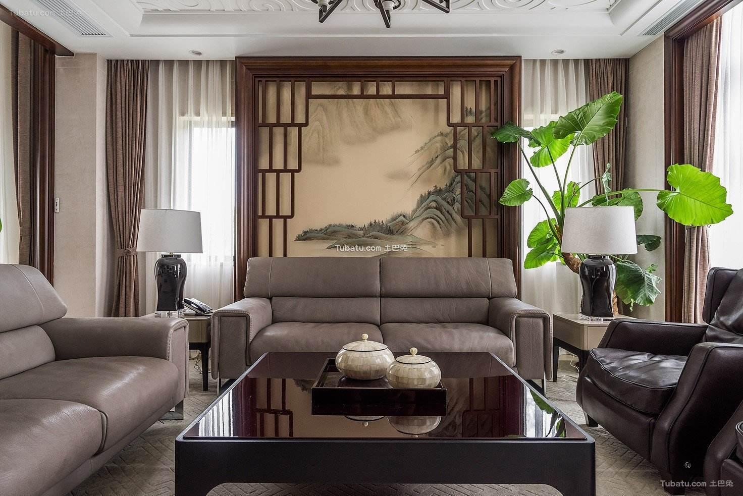 现代中式客厅布置装饰