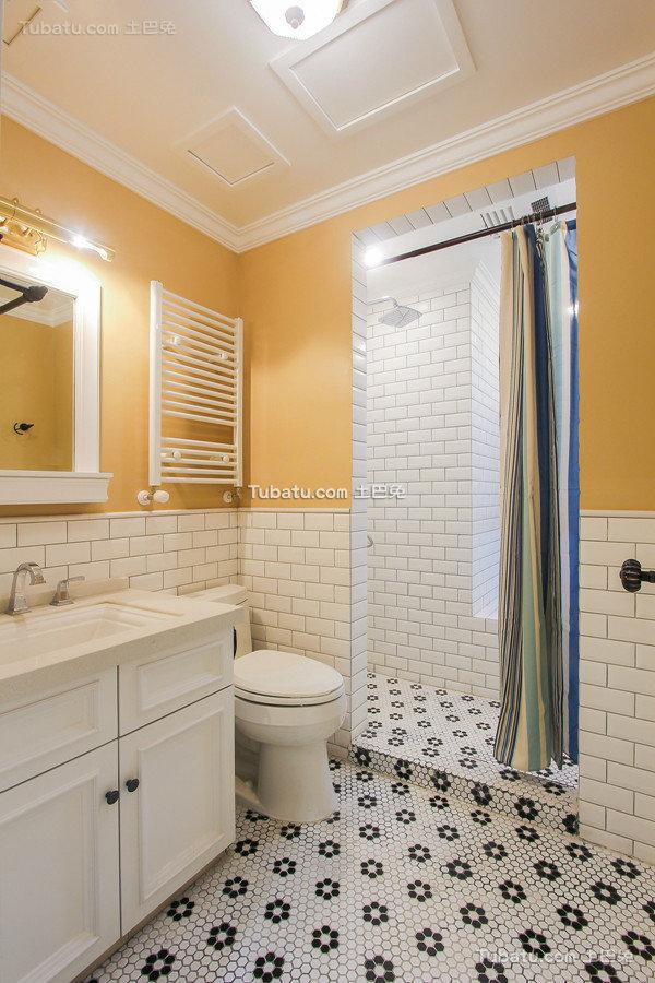 潮流美式风格卫生间设计