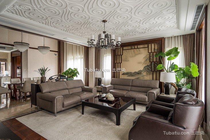 时尚中式别墅设计案例2015