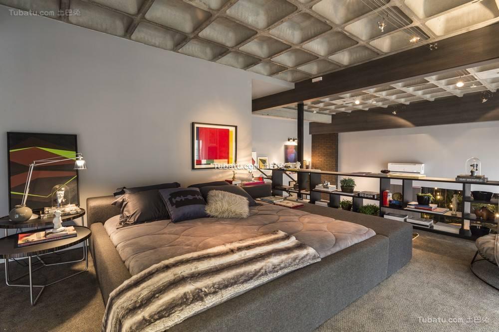 灰色后现代摩登设计卧室