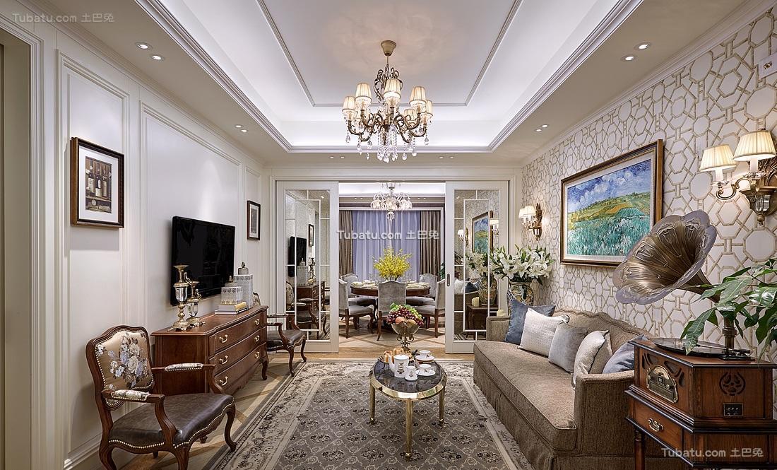欧式复古精美客厅设计案例