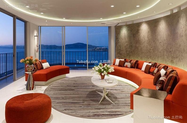 现代家装客厅设计效果图欣赏