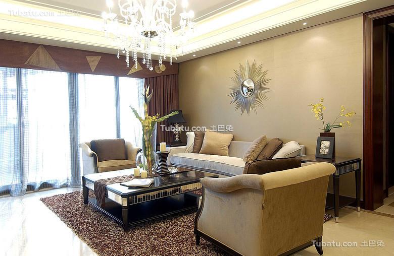 现代复古美式客厅装饰装潢