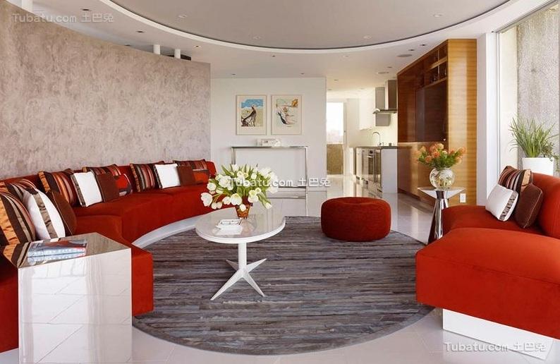 现代家装一室一厅设计效果图