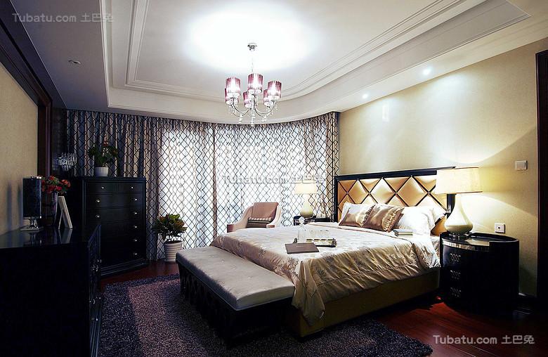现代复古美式卧室