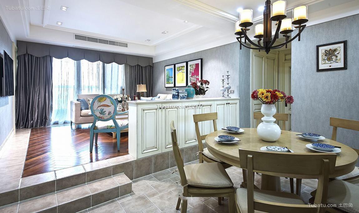 美式新古典风格室内吊顶图片