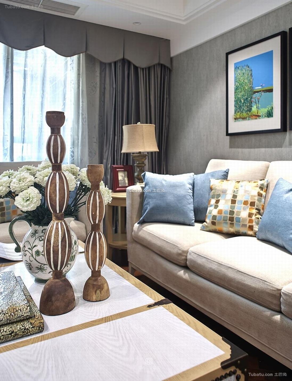 美式新古典风格两居室装修图片
