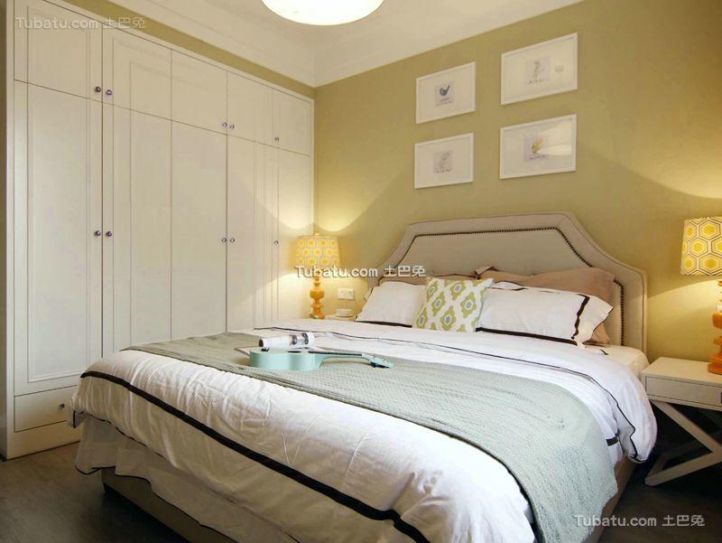 美式风格简约卧室设计装修图片