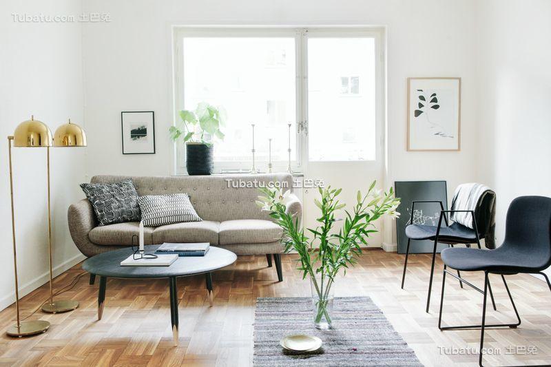 清新简约小户型设计室内装修图片