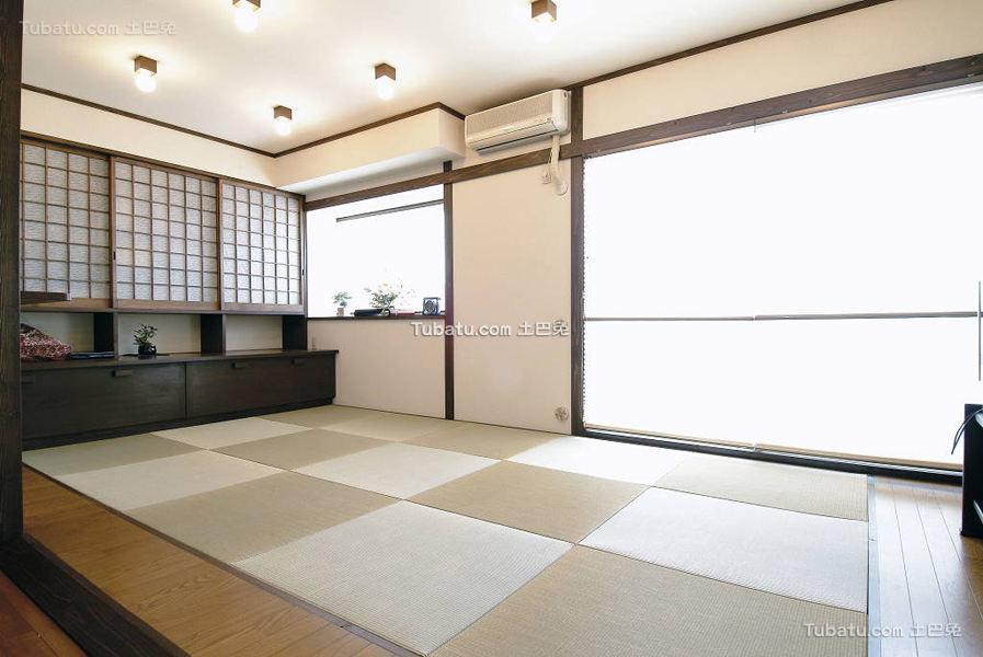 日式简约清新风格客厅设计