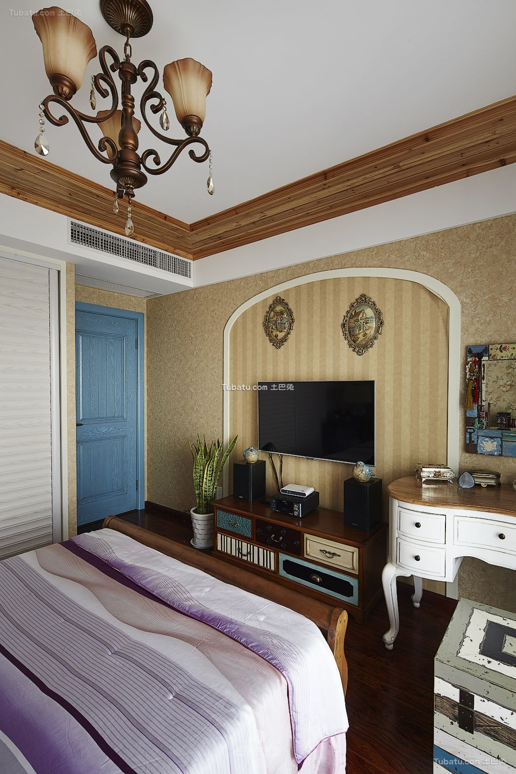 地中海风格卧室装修室内设计图片欣赏