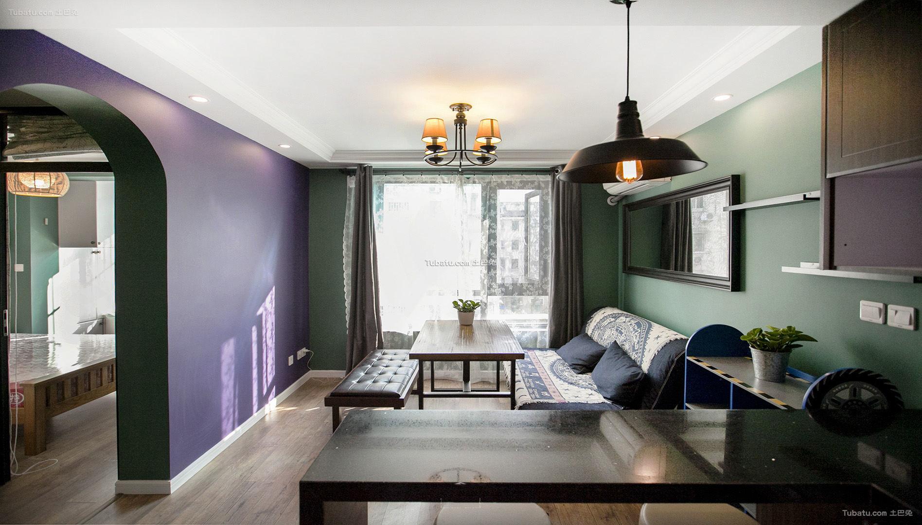 美式古典三居装修效果图