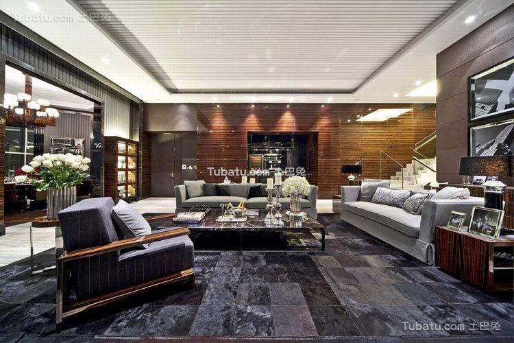 摩登现代中式客厅装修案例