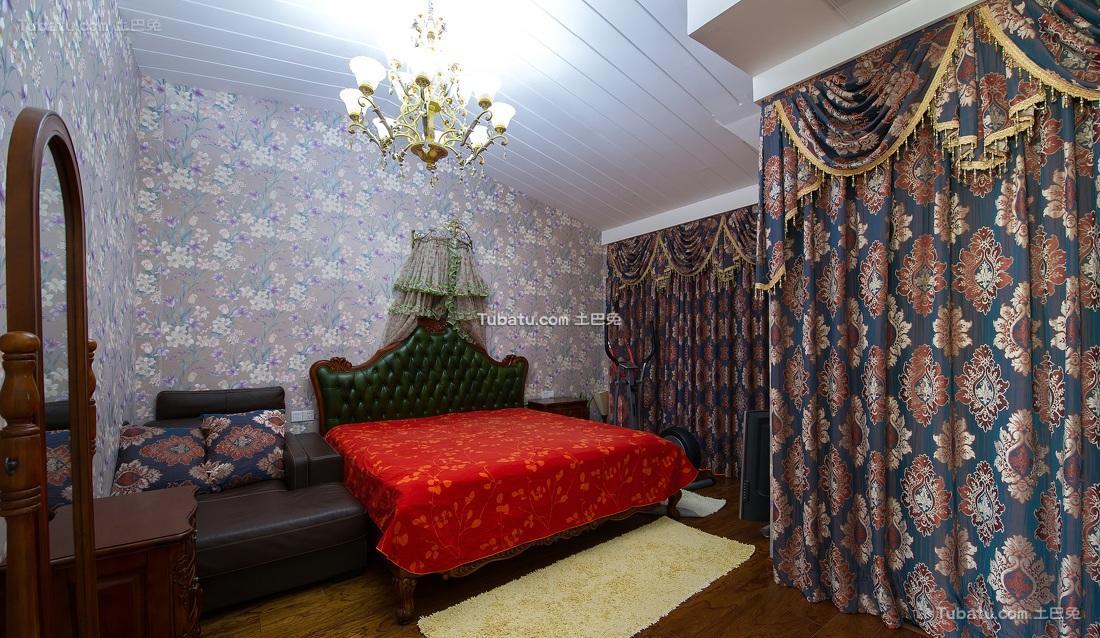 混搭欧式卧室软装布置