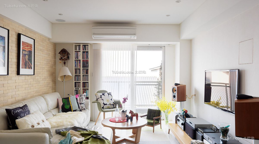 小清新风格宜家装修一居室设计