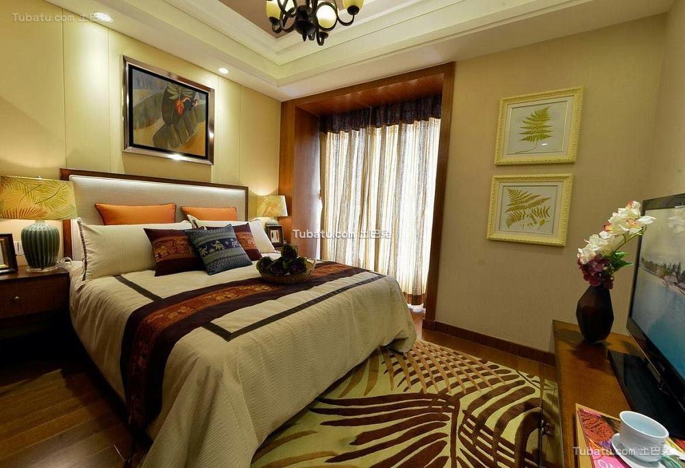 东南亚风格卧室室内设计效果图片
