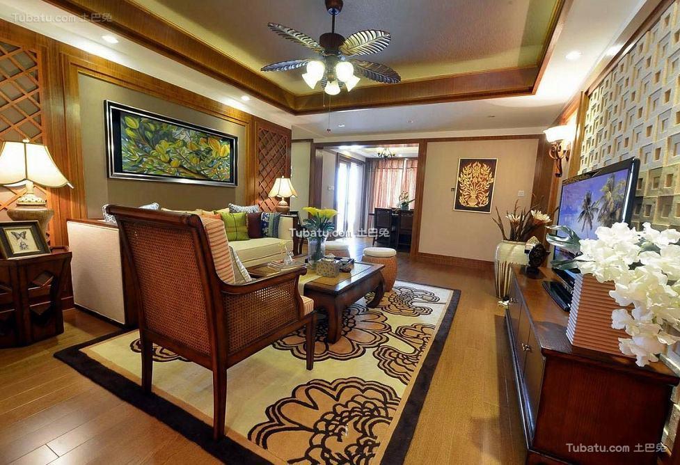 东南亚风格别墅室内设计效果图片