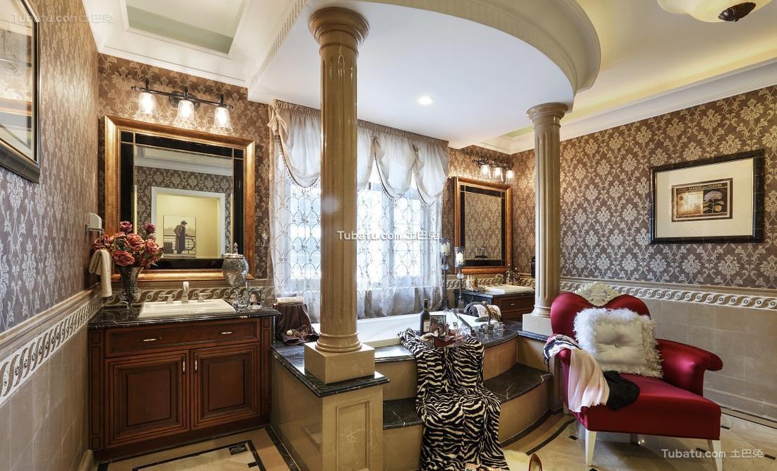 豪华欧式古典卫生间装饰装潢