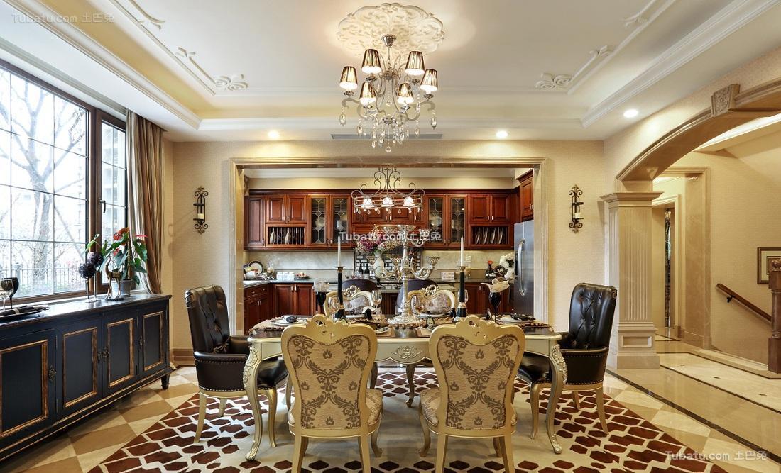 古典豪华欧式餐厅装饰布置