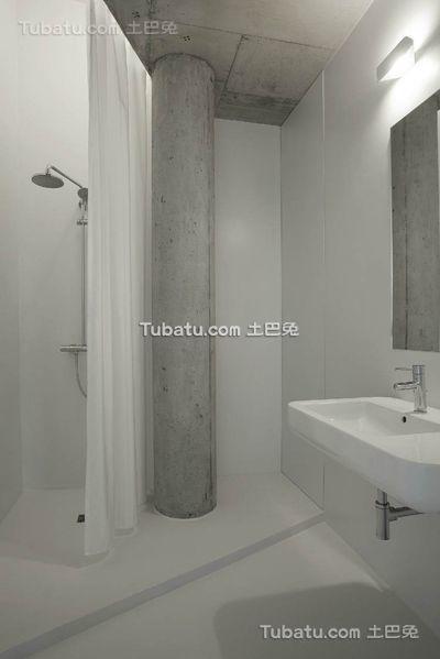 极简小户型室内卫生间设计效果图片