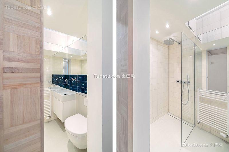 极简风格小户型卫生间设计效果图