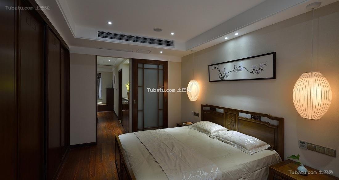 素雅简中式卧室装饰