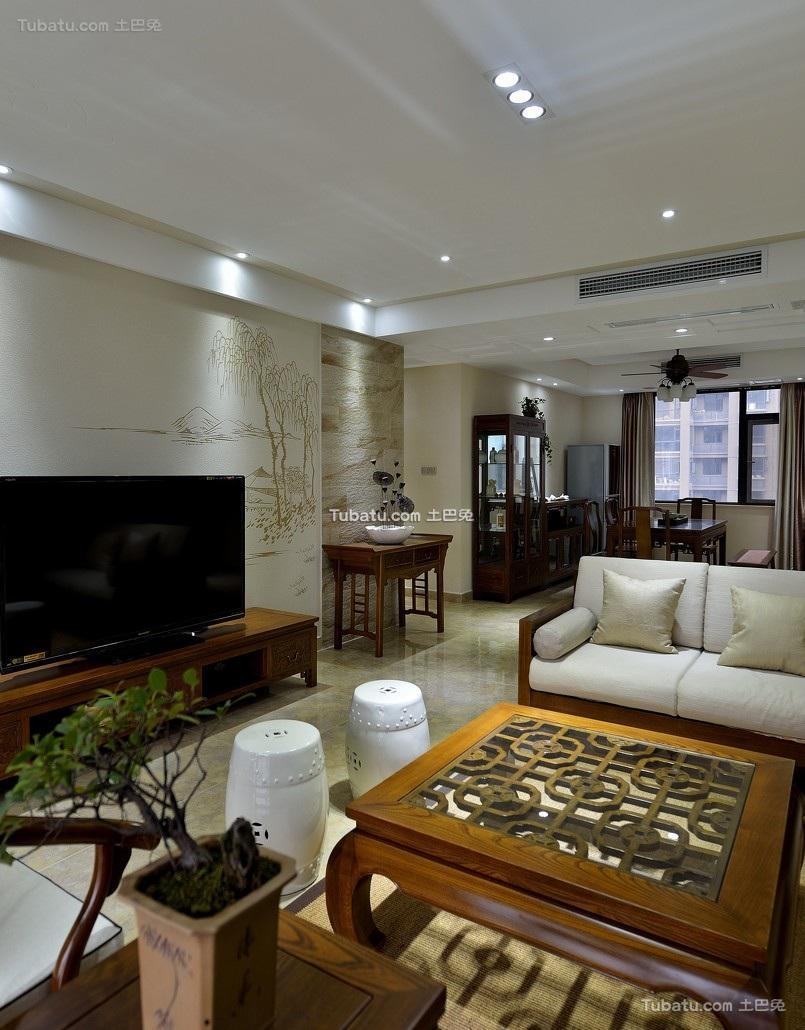 儒雅简中式客厅局部设计