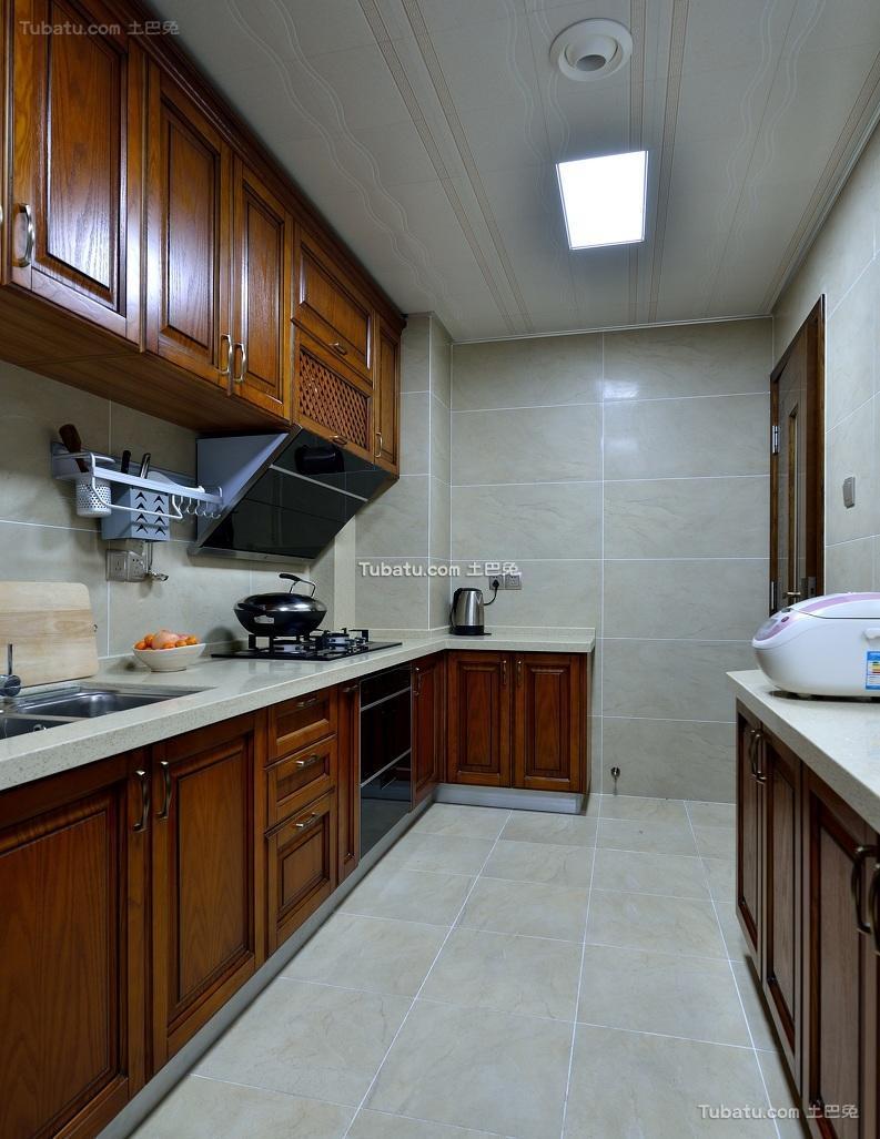 儒雅简中式厨房装潢