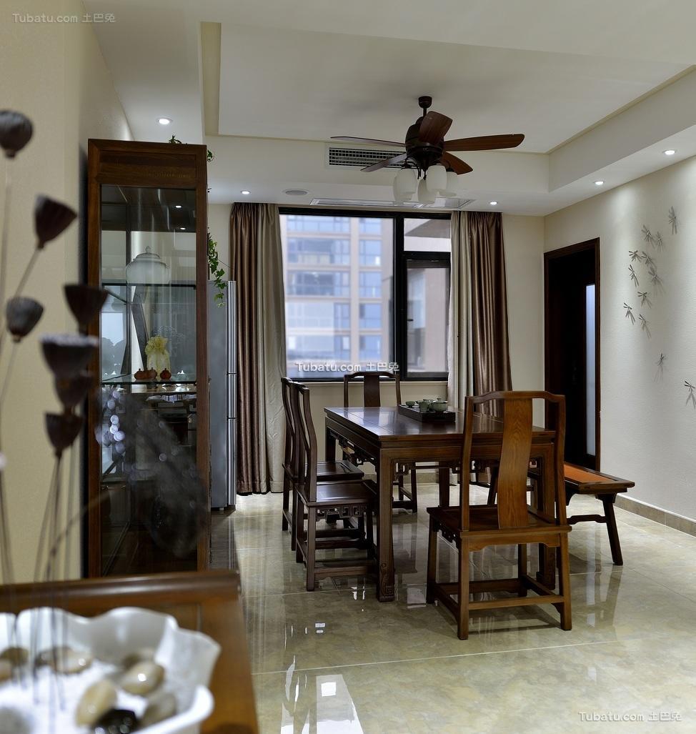 儒雅简中式家居餐厅案例