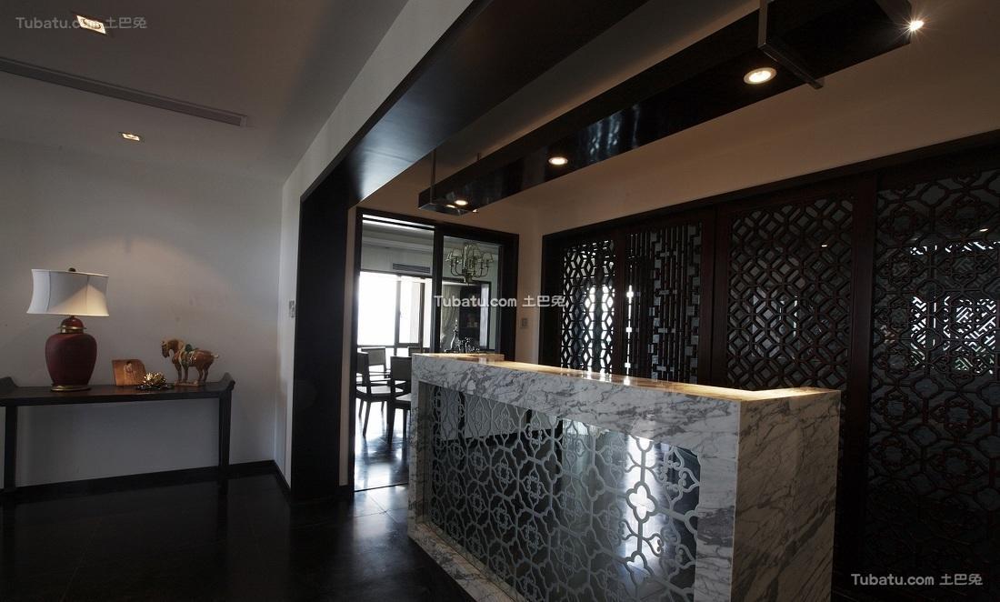 中式大理石吧台设计
