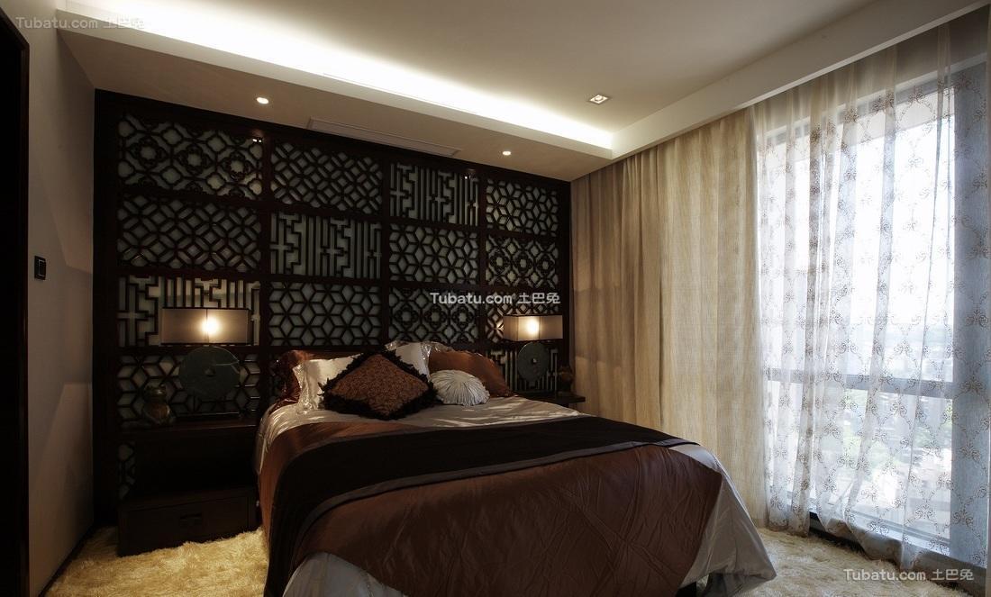 典雅中式卧室布置