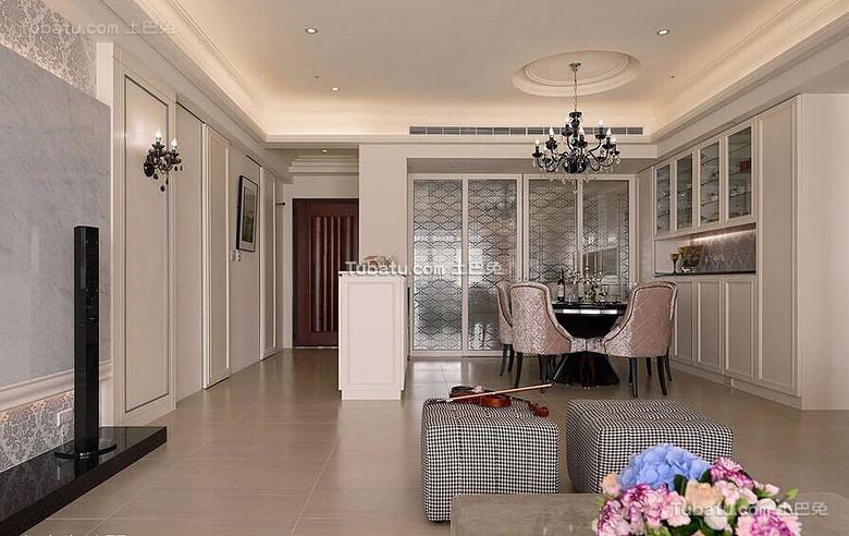 时尚简欧家居餐厅设计
