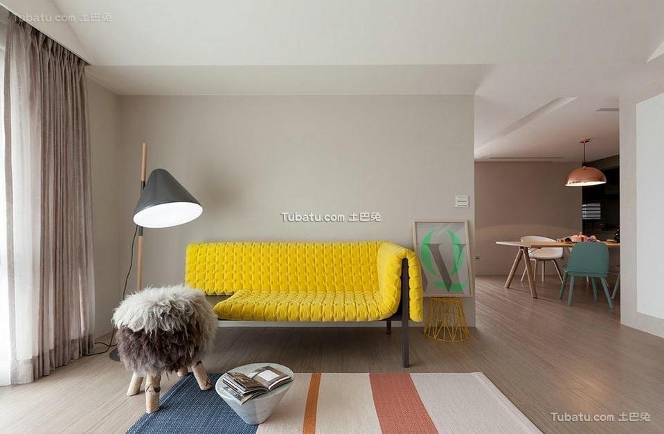 现代简约设计四居家装效果图