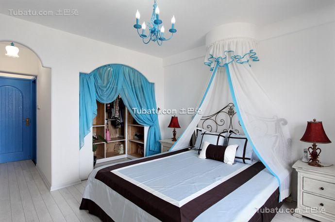 现代地中海风格卧室装修效果图