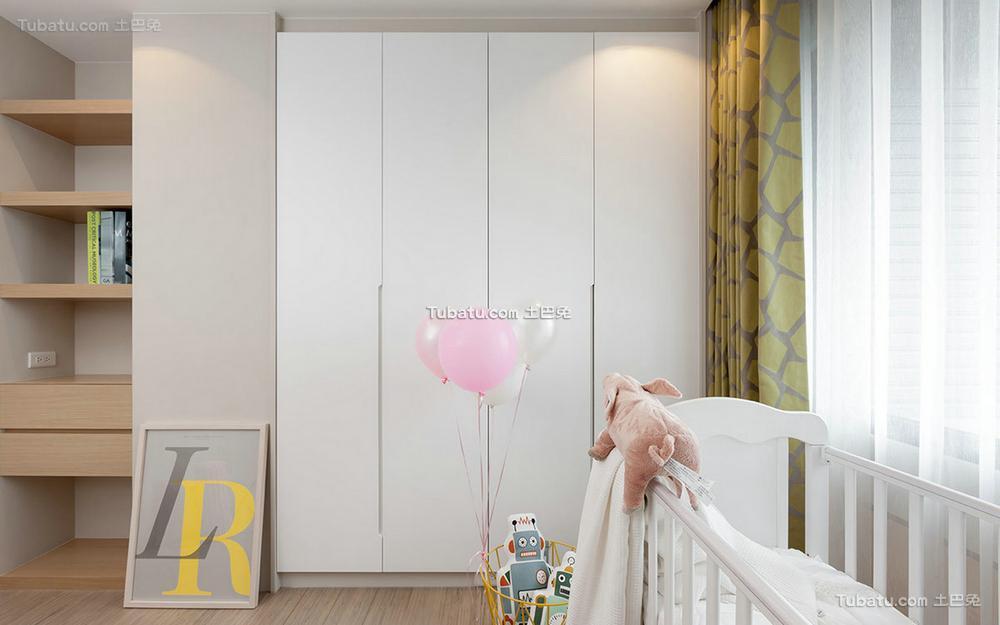 现代简约设计室内衣柜效果图