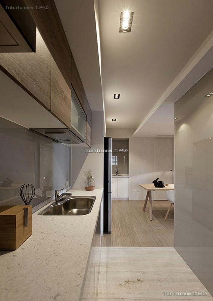 现代简约设计室内厨房家装效果图