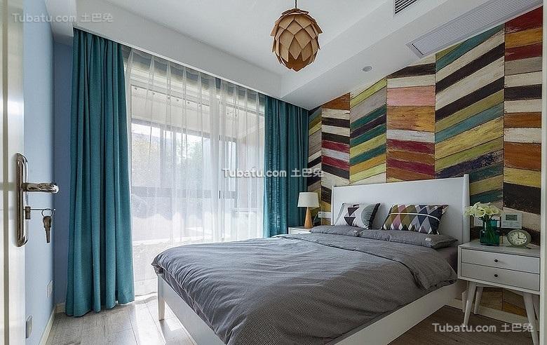 创意北欧卧室布置效果图