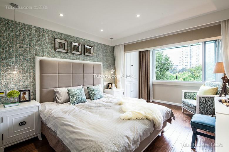 清新靓丽美式卧室布置