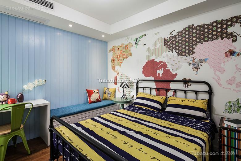 创意美式混搭儿童房装饰欣赏