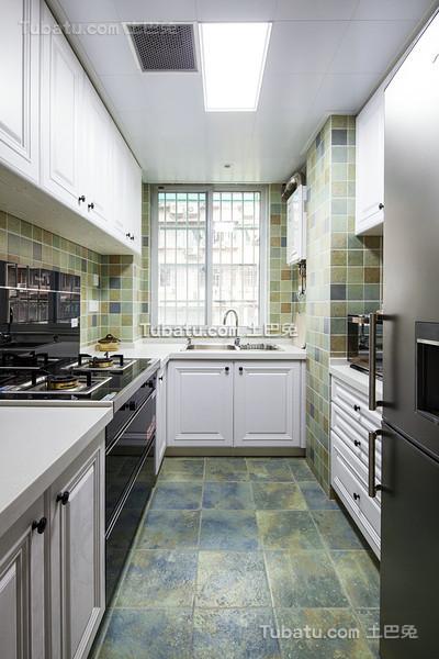 文艺复古美式厨房设计
