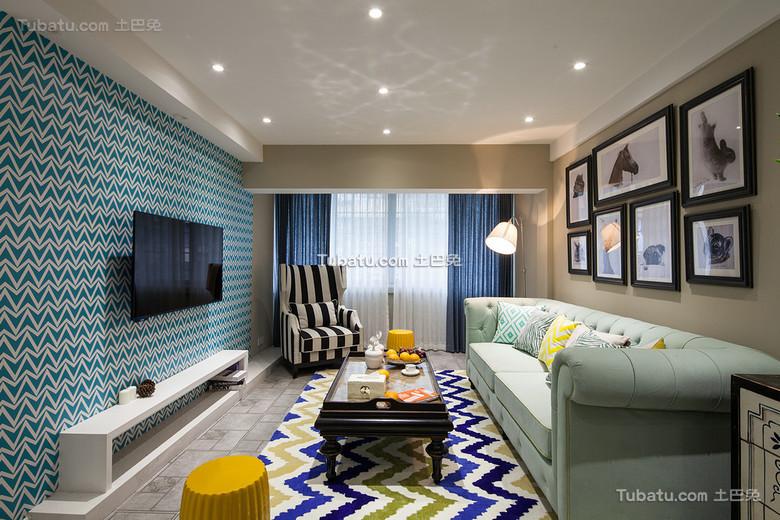 时尚混搭美式客厅装饰设计