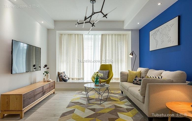 时尚北欧家居客厅色彩搭配
